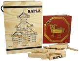 KAPLA Holzbaukasten 280 Steine in Holzkiste mit Kunstbuch -