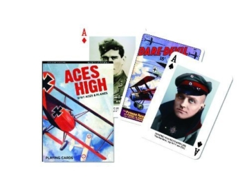 Piatnik Aces High World War 1 Planes Playing Cards Single Deck Made Austria WWI by Piatnik -