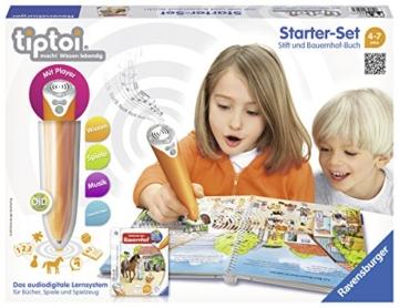Ravensburger 00507 - tiptoi Starter-Set mit Stift und Buch Wieso? Weshalb? Warum? Entdecke den Bauernhof -