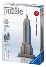 Ravensburger 12553 - Empire State Building - 216 Teile 3D Puzzle-Bauwerke -
