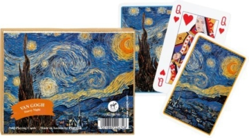 Van Gogh Starry Night Playing Cards Set of 2 Decks Piatnik by Piatnik -
