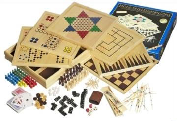 Philos 3102 - Holz-Spielesammlung mit 100 Spielmöglichkeiten -