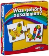 Noris Spiele 608985662 - Was gehört zusammen, Reise- und Mitbringspiel -