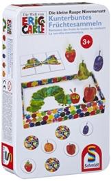 Schmidt Spiele 51237 - Die kleine Raupe Nimmersatt, Kunterbuntes Früchtesammeln -