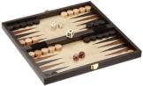 Philos 2511 - Reise-Schach-Backgammon-Dame-Set, Feld 30 mm, Königshöhe 47 mm -