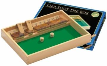 Philos 3120 – Shut The Box 12er, Würfelspiel, Klappenspiel -