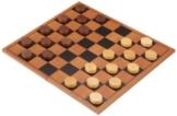 Philos 3144 - Dame-Set mit klappbaren Spielbrett, Strategiespiel -