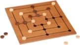 Philos 3181 - Mühle-Set mit klappbarem Spielbrett, Strategiespiel -